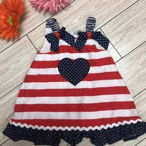 Little Me fourth of July patriotic dress size 18m